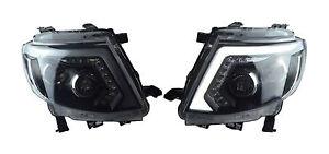Set Head Lamp Lights Led Ccfl Black For Ford Ranger T6 Wildtrak Xlt 2012 2015