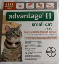 Advantage II 4 Pack for Small Cats 5-9 lbs USA  EPA Approved product