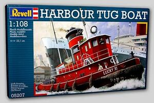 2001 Revell of Germany 5207 1/108 Harbour Tug Boat Ship Model Kit new in the box