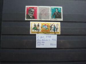 2 gest. DDR-Zus.-drucke von 1962, Mi.-Nrn. 893-94 + 905-06