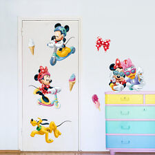 Disney  Mickey mouse Donald Duck Removable Wall Stickers Kid Home Decor