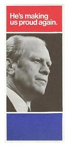 1976 GERALD FORD DOLE CAMPAIGN BROCHURE political presidential pin button badge