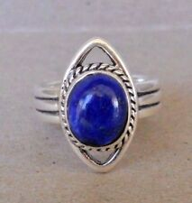 Handmade Sterling Silver Blue Lapis Ring Size 6 -One Of A Kind