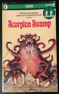 Scorpion Swamp Fighting Fantasy #8 1984 1st Ed Steve Jackson Green Banner Good