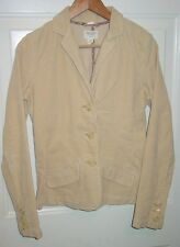 AMERICAN EAGLE M Corduroy Blazer Fall Jacket Stretch Light Beige Tan Pockets EUC