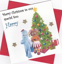 Personalised Handmade In The Night Garden Christmas Card - Daughter, Son etc