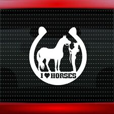 Horse #2 I Love My Equestrian Cowgirl Car Decal Window Vinyl Sticker 20 COLORS!