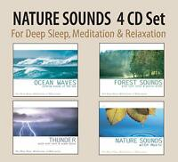 Nature Relax Sound Set Ocean Waves, Forest Sounds, Thunder, Nature Sounds 4 CDs