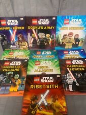 Lego Star Wars Lot of 10 Hardcover DK Books Disney Hardcover Lego Minifigures