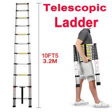 Heavy Duty 10.5FT Aluminium Telescoping Ladders Extend Extension Step Ladder