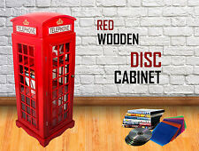 Red Wooden DVD CD BOOK Storage Cabinet Large Home Decoration Telephone Phone