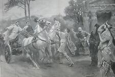 """1902 Large Antique Prints - London Theatre - """"Ulysees"""", """"Ben-Hur"""","""" Francesca"""""""