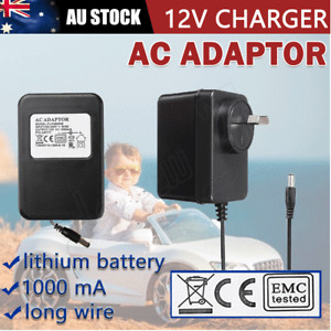 12V 1000mA AC Adaptor Battery Charger For Kids Electric Ride On Car Bike Scooter