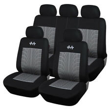 Sports Car Seat Covers Black+Gray polyester +3mm foam backing+ mesh cloth finish
