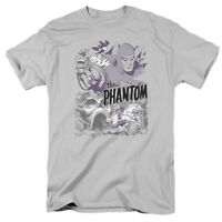 The Phantom Ghostly Collage Licensed Adult T-Shirt