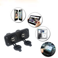 12V Car Boat Accessory Socket Panel 2-4 USB Charger Port  Power Adapter OutletS