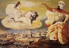 Salvatore Fiume, Invocazione della dea Cibele litografia 60x80cm, firmata.
