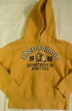 abercrombie 1892 Sz S Cotton Poly Sweatshirt Hoodie Yellow Indian Chief