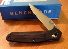 BENCHMADE New 943 Black Handle Osborne Plain Edge S30V Blade Knife/Knives