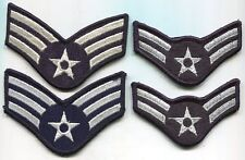 USAF US Air Force Airman Rank Stripes Patch Lot of 2 Pairs