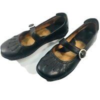 Born Women Sz 7.5M Black Soft Leather Mary Jane Style Buckle Fasten Slip On Shoe
