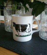 Bone China friesan mucca tazza decorata a mano regalo in Galles