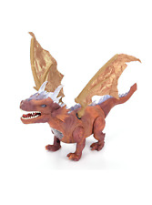 Kids Toy Walking  Dinosaur Dragon Figure With Lights & Sounds Batteries Included