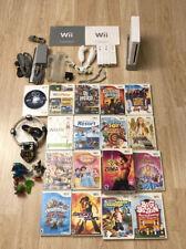 Nintendo Wii White Console Bundle w/ 17 Games 3 Controllers 2 Nunchucks