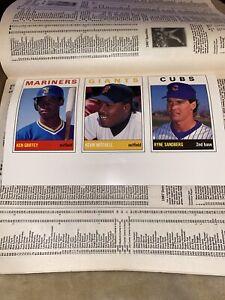 1989 SCD Baseball Card Price Guide Monthly Magazine #3 Ken Griffey Jr ~Uncut
