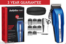 BaByliss Powerlight Pro 7498CU Mens Cordless Clippers Trimmer 15 Piece Kit