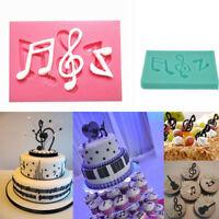 Note de musique Moule Fondant silicone gâteau au chocolat Sugarcraft décorOP