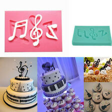Musical Note Silicone Fondant Mold Cake Sugarcraft Decorating Chocolate Mould VN