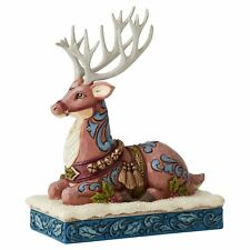 Jim Shore Heartwood Creek 6004180 Calm Before Eve Victorian Reindeer Laying