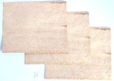 3 Blatt Vogelaugenahorn Furnier Intarsie  placage Érable moucheté ebenisterie