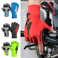 HK- Cycling Half Finger Gloves Anti-slip Unisex Bicycle Outdoor Sports Mittens G