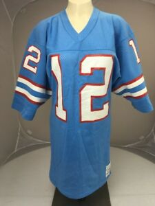 Vtg 70s 80s SandKnit Houston Oilers Ken Stabler #12 Jersey Small NFL NEVER WORN