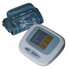 Großes Oberarm Blutdruckmessgerät + Batterien 60 Speicherplätze Pulsmessung
