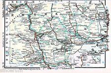 Graz Fürstenfeld Radkersburg 1935 kl. orig. Eisenbahn-Karte Leoben Hartberg Weiz