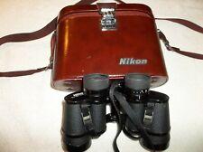 VINTAGE NIKON 10x35 6.6 DEGREE WF BINOCULARS WITH LEATHER CASE