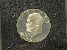 1971-s Eisenhower Ike Silver Proof Dollar- Peg Leg     Original Box