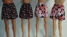 4 piece Barbie & Ken Shorts & Skirts ~ Valentine's Day ~ Fashion Doll Clothes