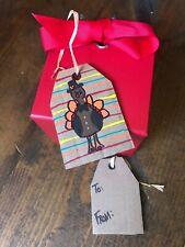 Handmade Up-Cycled Thanksgiving Gift Tags-Cardboard-Turkey-Gobble-Pilgrim-Wrap