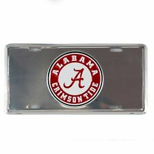 ALABAMA CRIMSON TIDE CHROME CAR TRUCK TAG  LICENSE PLATE ~ FREE SHIP