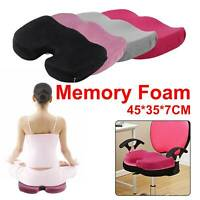 UK Memory Foam U Pillow Orthopedic Cushion Coccyx Chair Pain Relief Office Seat