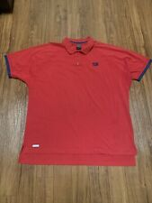 Vintage 80's Nike John McEnroe Polo Shirt XL Checkered Swoosh Tennis Red