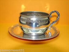 Jolie ancienne tasse en métal argenté