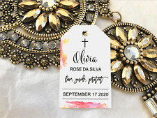 10 Gift Tags Baptism Christening Confirmation Bomboniere Personalised Cross