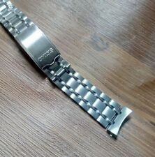 19mm Steel watch band 80's  jubilee curve end For seiko6139 - 6138 chrono