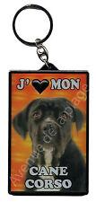 """Porte clé 3D """"J'aime mon Cane Corso"""" chien idée cadeau pas cher NEUF"""