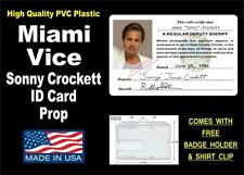 "MIAMI VICE ID Card / Badge Prop - Miami Police Card - PVC PLASTIC ""Crocketts"" ID"